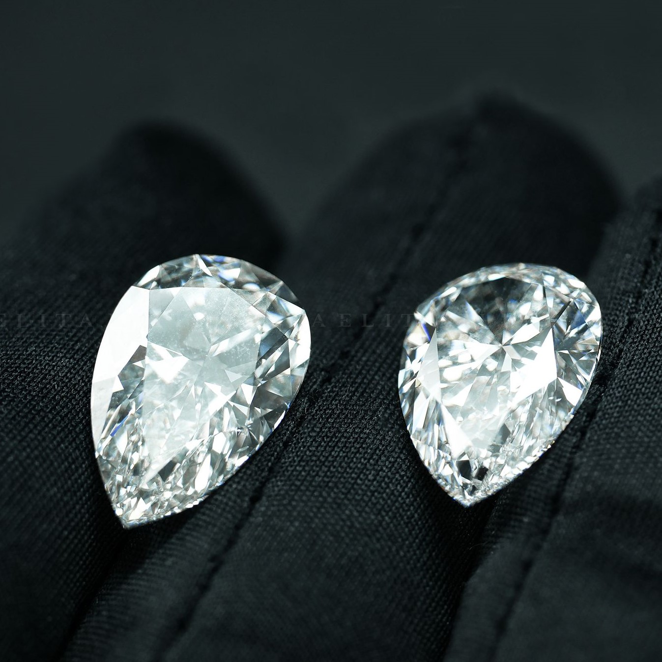 2 Pear Shape Diamonds 20.08 TCW