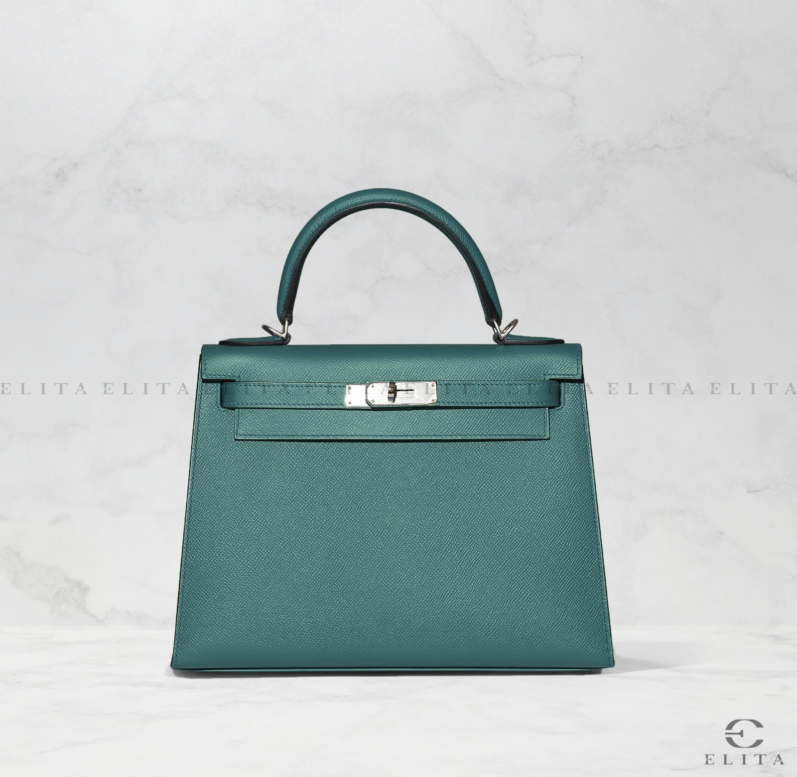 Kelly 28 Malachite Epsom Leather