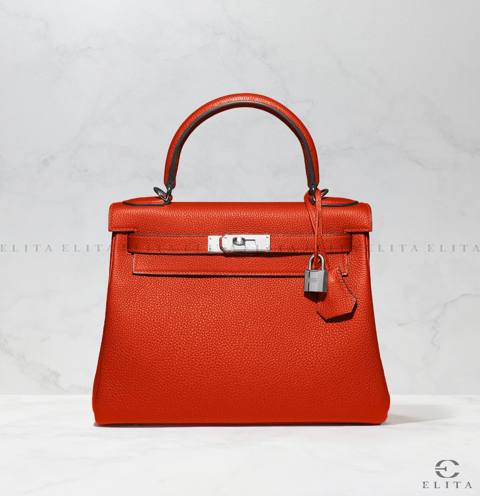 Kelly 28 Rouge Casaque Togo Leather