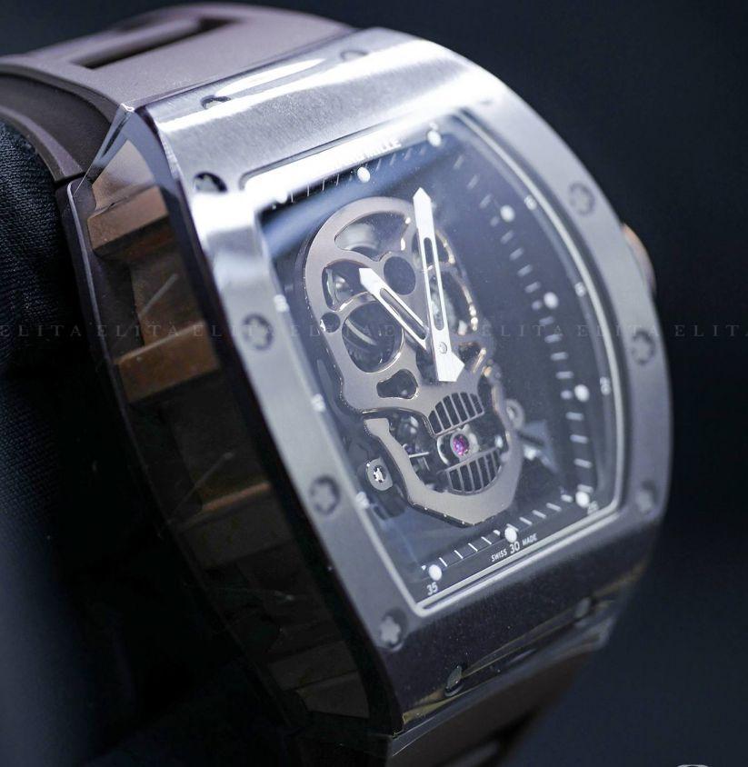 RM 52-01 Skull Rose Gold Titanium and Ceramic