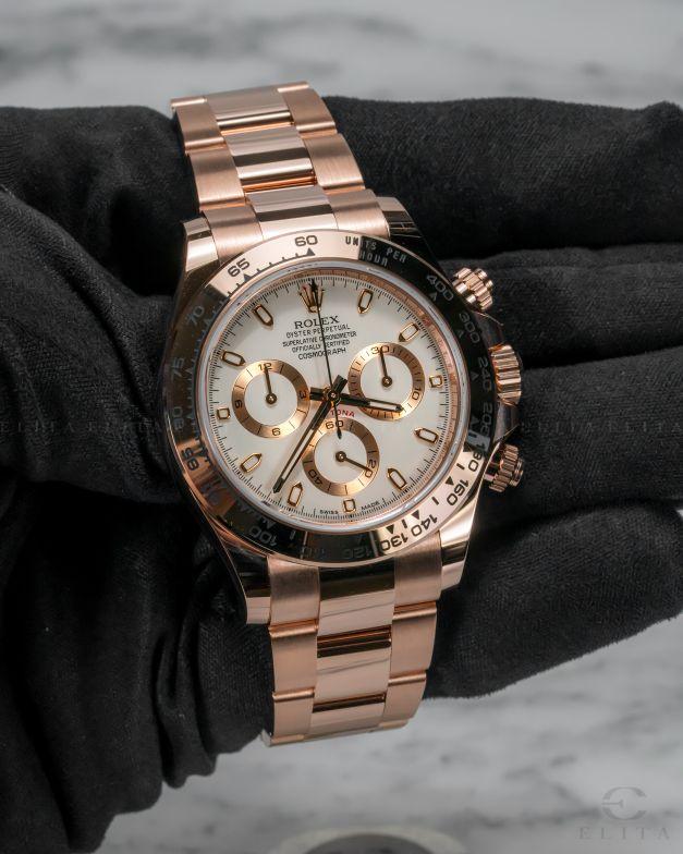 Daytona Cosmograph 116505-0010 Everose Gold Ivory Coloured Dial