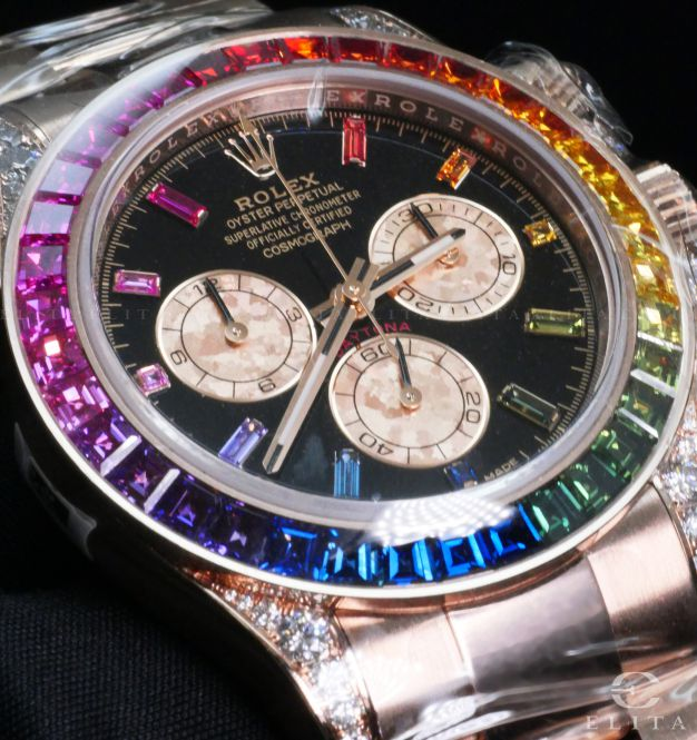 Daytona 116595RBOW Cosmograph Rainbow Sapphires Everose