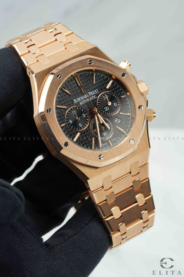 Royal Oak Chronograph 26320OR.OO.1220OR.01 Pink Gold Black Dial