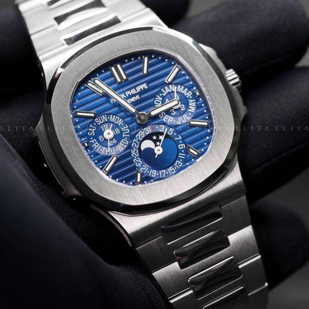 Nautilus 5740/1G-001 Perpetual Calendar White Gold Blue Dial