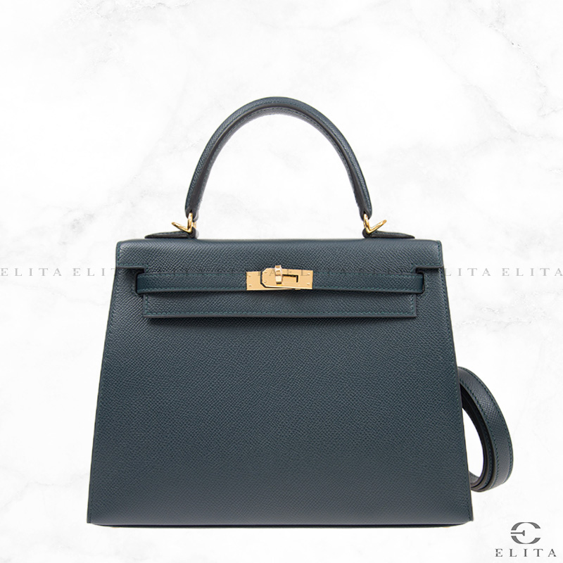 Kelly 25 Vert Fonce 60 Epsom Leather