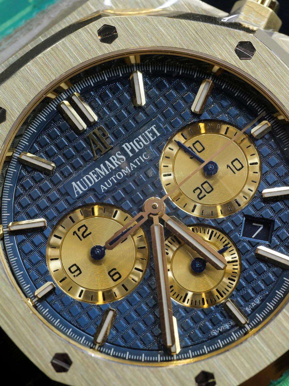 Royal Oak 26331BA.OO.1220BA.01 Chronograph Yellow Gold Blue Dial