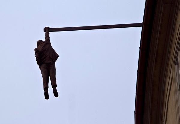 Man Hanging Out Prague