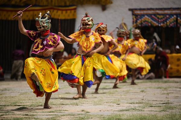 Bhutanese Masked Dancers