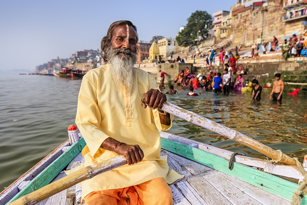 Man Rowing On Ganges