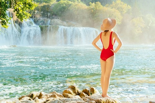 Swimming Krka National Park