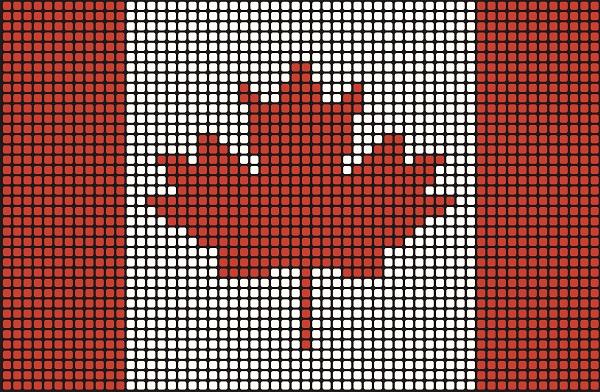 Mosaic Canadian Flag