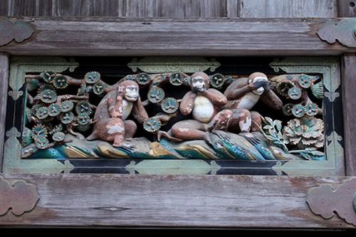 Tosho-gu three wise monkeys