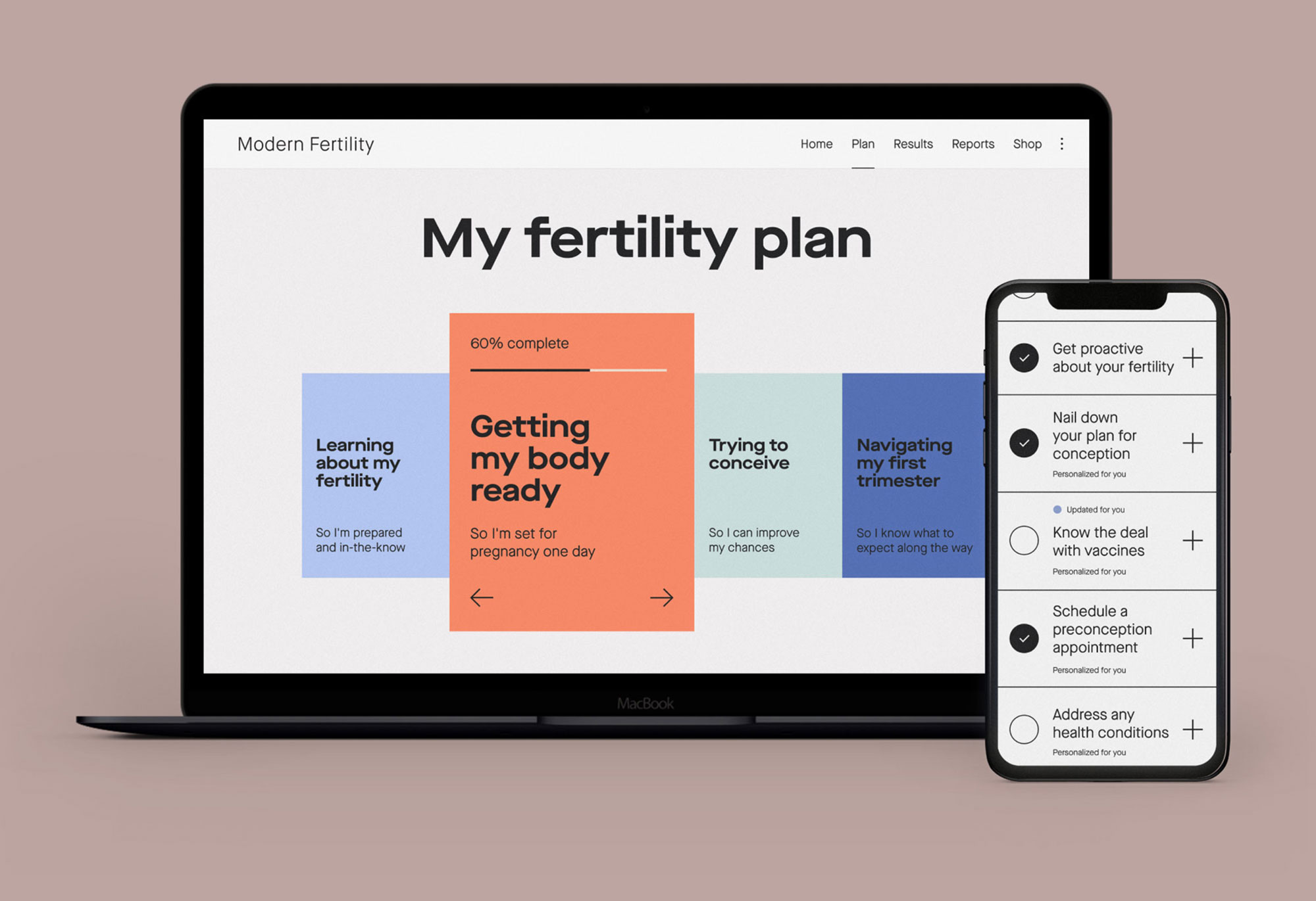 A free fertility plan that supports you from preconception to pregnancy