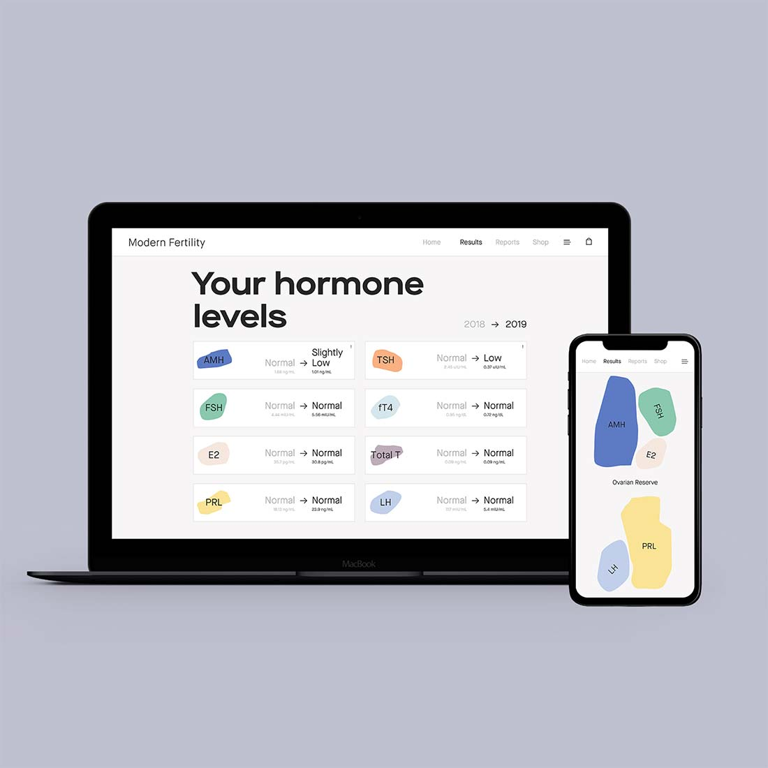 Hormone levels test online reports