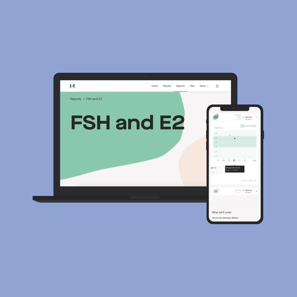 FSH hormone levels test online reports