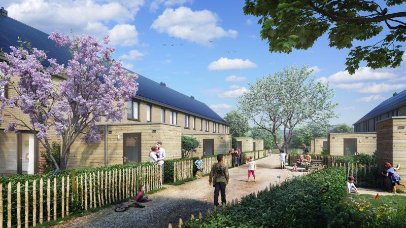 Afbeelding van Nieuwbouwwijk Vredeoord stucwerk door Slegers Spuitwerken
