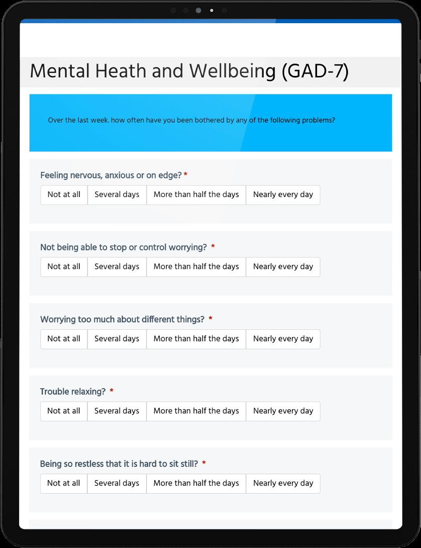 Adult Mental health And Risk Scoring Digital Form
