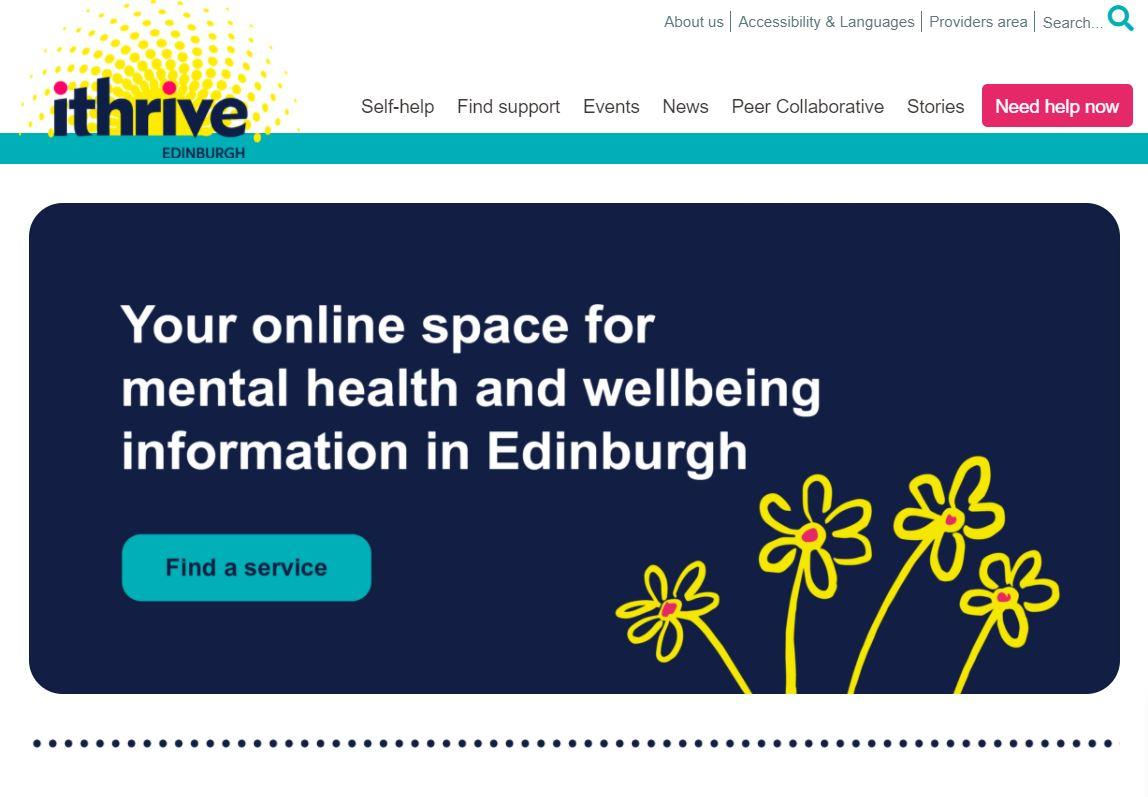 iThrive is the online space for Mental Health and Well-being information in Edinburgh