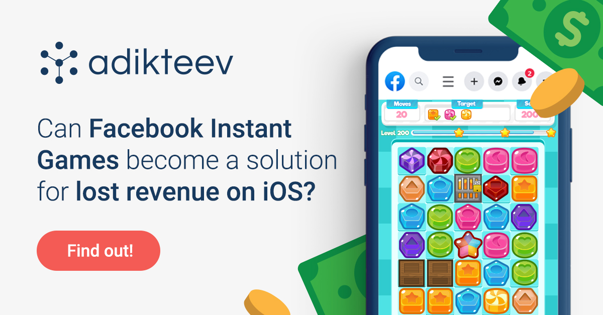 Check out how Facebook Instant Games is a new source of revenue to make up for reduced IDFA collection on iOS!