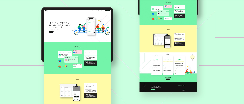 Kema website screens