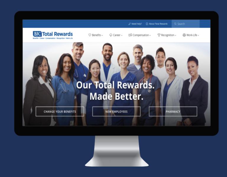 BJC Total Rewards landing page