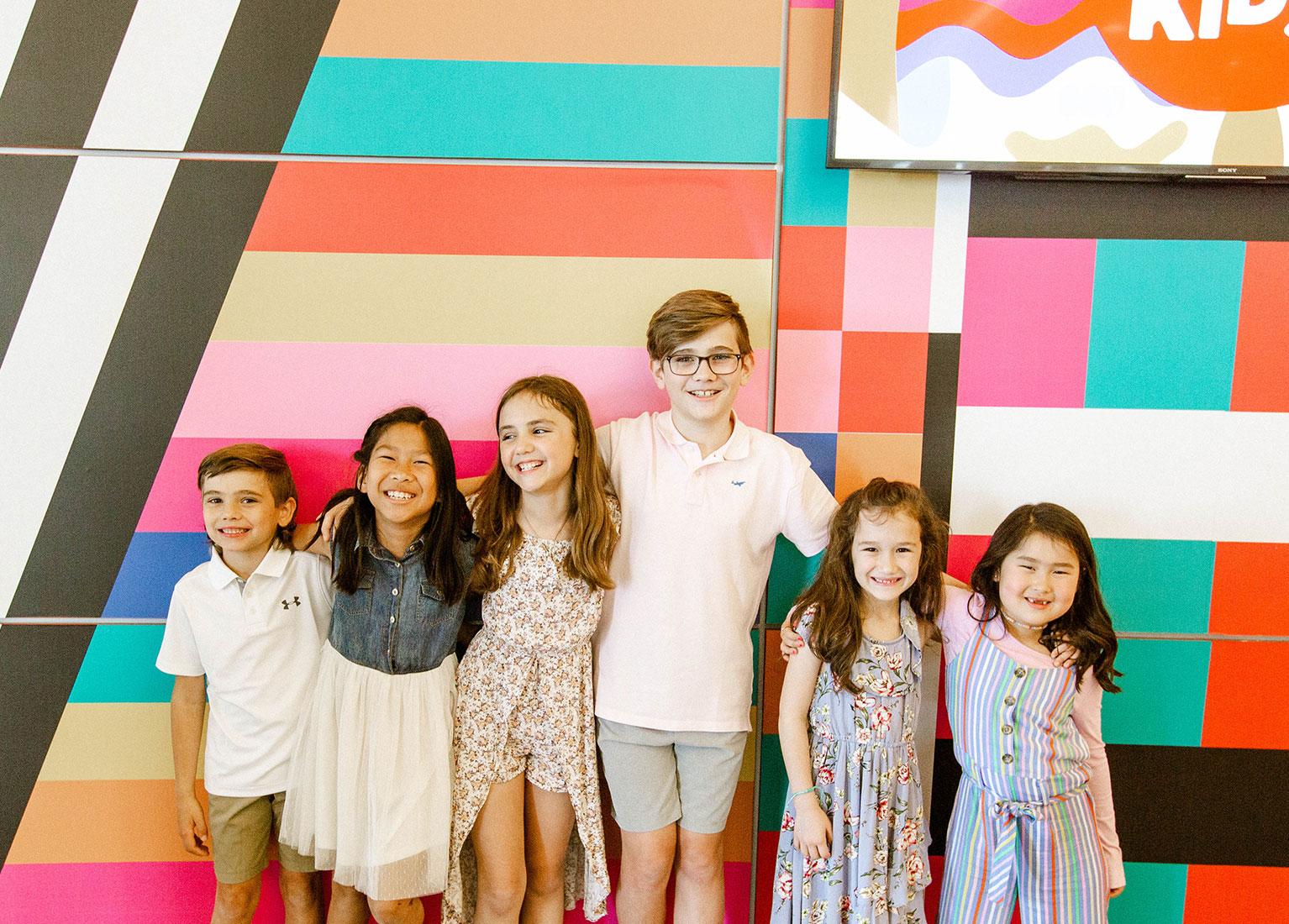Group of kids having fun