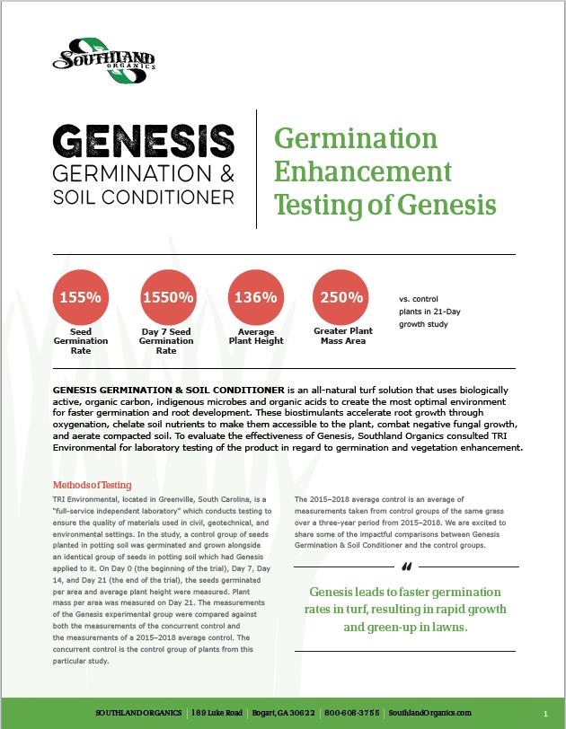 Increased Germination