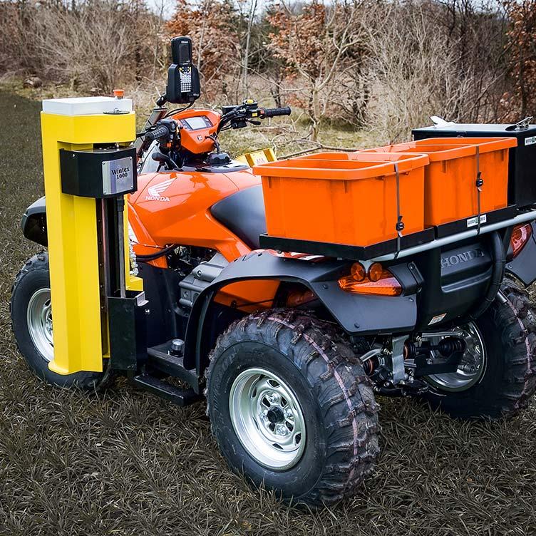 Wintex 1000 automatic soil sampler installed on a Honda ATV
