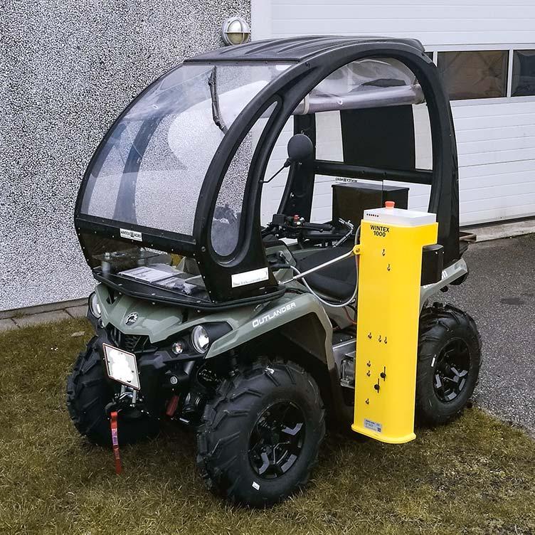 Wintex 1000 automatic soil sampler on a Can-Am Outlander ATV