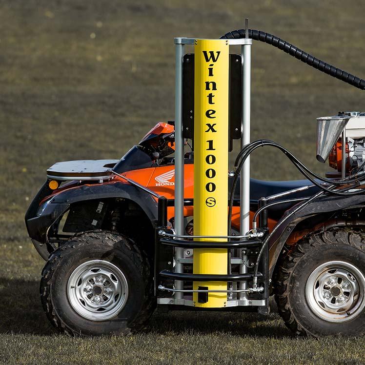 Wintex 1000s automatic soil sampler installed on a Honda ATV