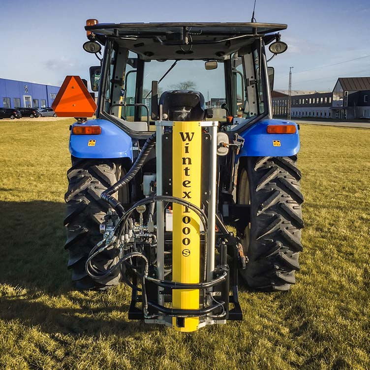 Wintex 1000s automatic soil sampler installed on a New Holland tractor