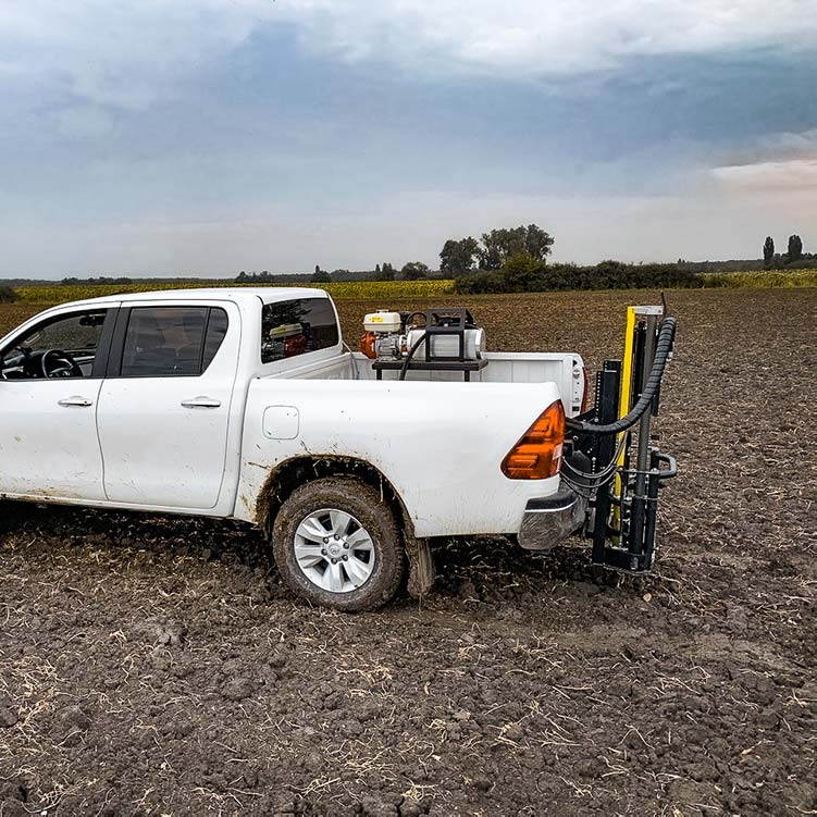 Wintex 1000s automatic soil sampler installed on a pickup truck