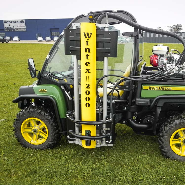 Wintex 2000 automatic soil sampler installed on a John Deere Gator UTV