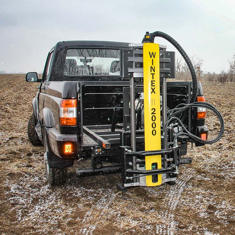 Wintex 2000 automatic soil sampler installed on a pickup truck