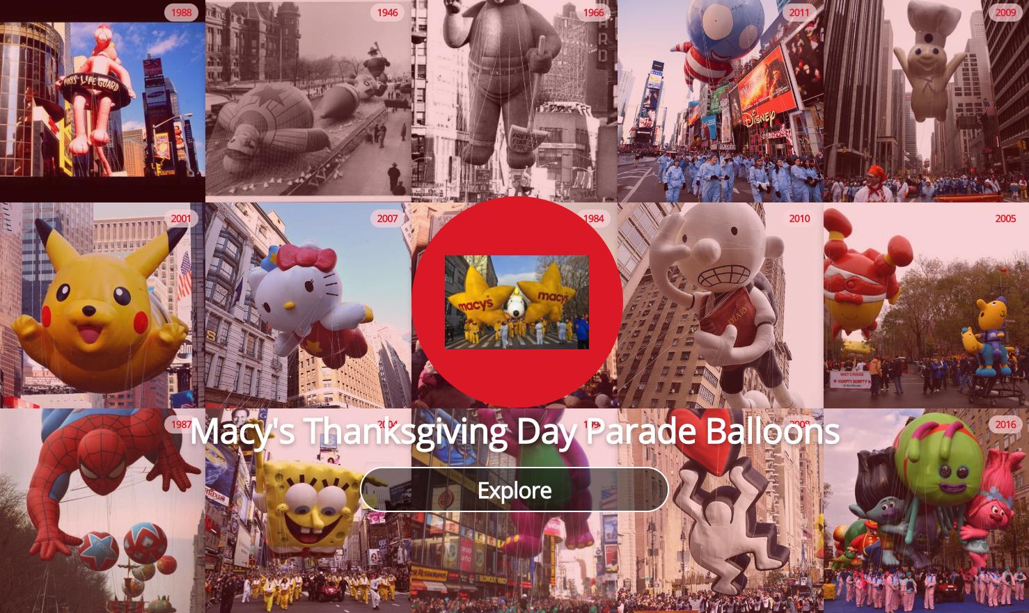 Example: Macy's Balloons