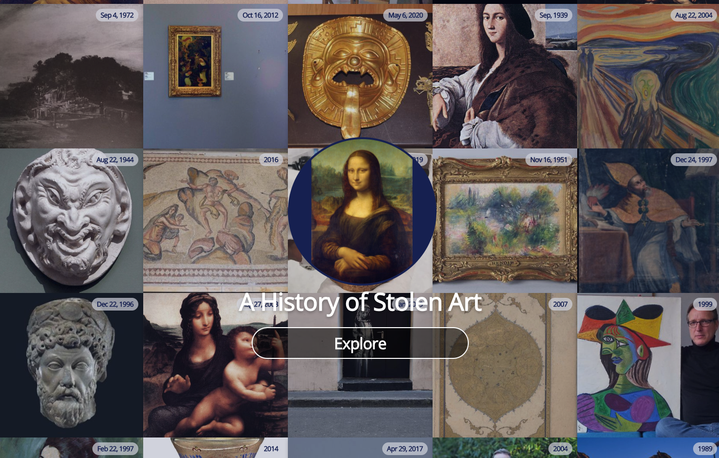 Example: History of Stolen Art
