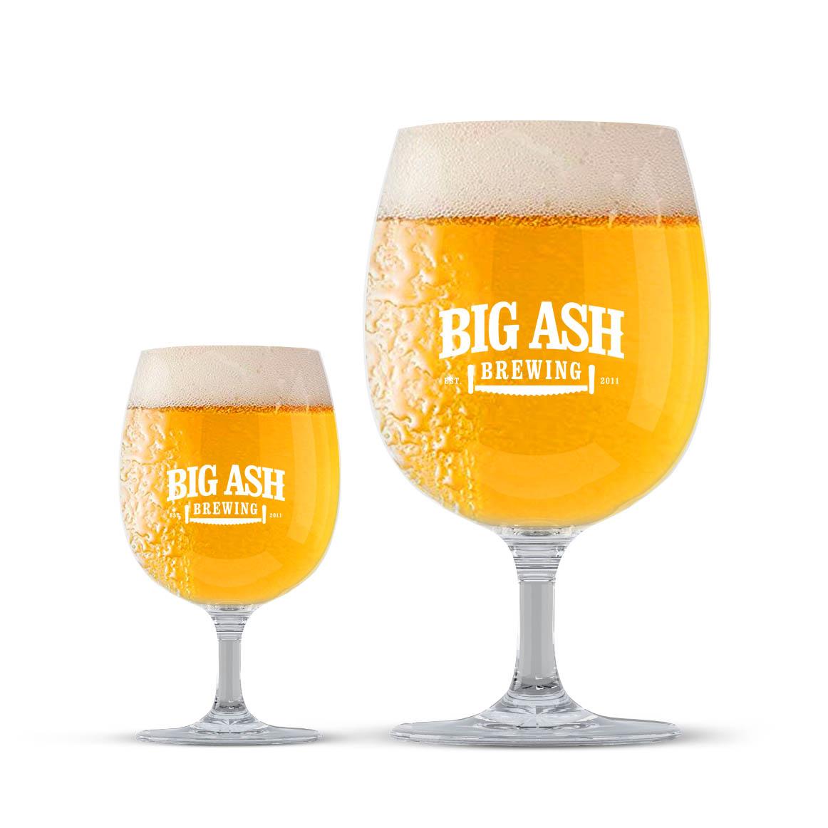 Big Ash Belgian Glasses