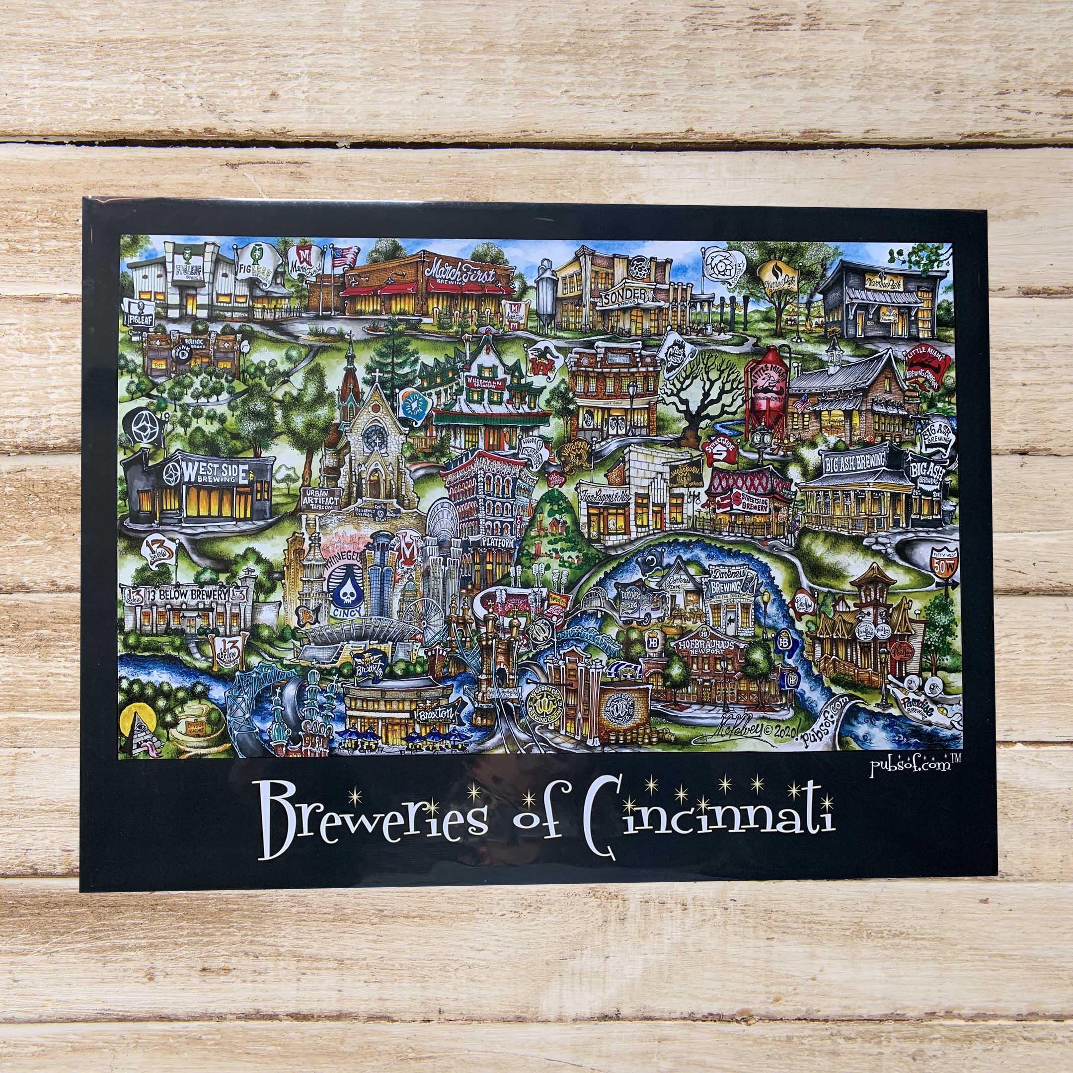Breweries Of Cincinnati Poster