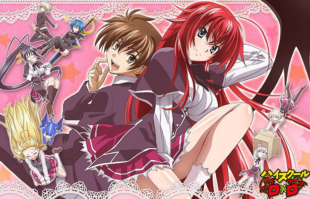 EA_8 anime characters wearing dress with the pink background | Highschool DxD Season 5 To Follow Hero Oppai Dragon Arc.ow Hero Oppai Dragon Arc. | Highschool DxD - The Ecchi King Is Back