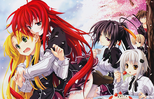 EA_6 anime girls joking together_heading |Release Date | Highschool DxD - The Ecchi King Is Back