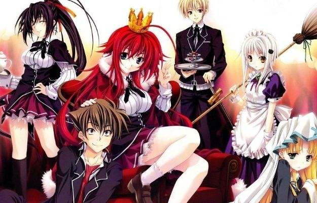 High School DxD harem| Which Ecchi Animes Have The Best Harem?