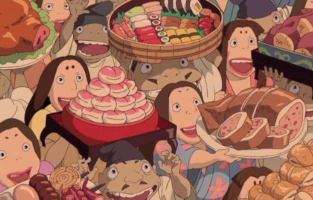a cut scene from the film Spirited Away that show various kinds of Japanese traditional food | Learning About Japanese Culture | 6 Reasons To Watch Anime That Don't Involve Boobs