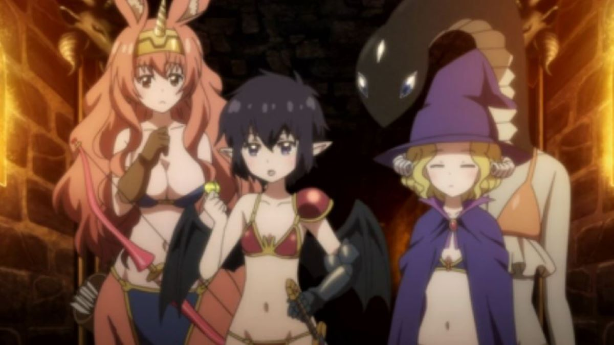 Monster girls in bikinis play a role playing game | A Centaur's Life | Monster Girl Anime to Watch Over Halloween