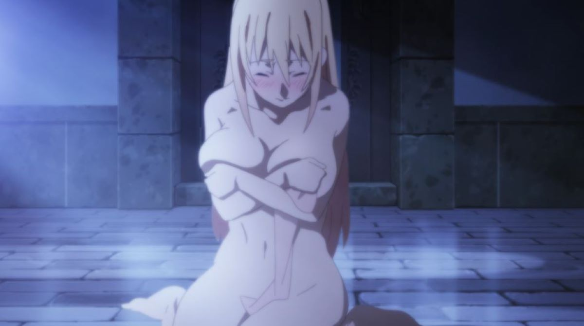 Darkness is startled as she tries to take a bath | Anime | The Importance of Bathing in Japan