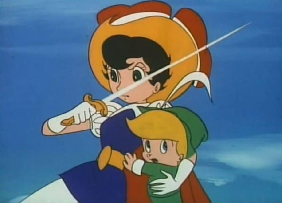 Princess Sapphire with sword drawn | Princess Sapphire - Princess Knight | An Anime Warrior Princess!
