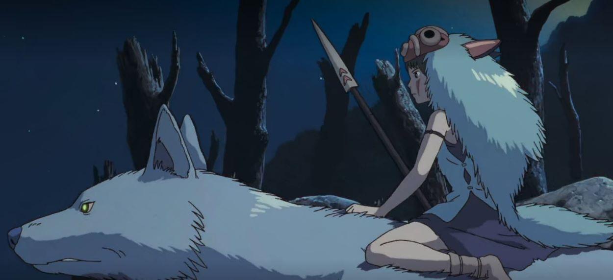 San riding a wolf | San - Princess Mononoke | An Anime Warrior Princess!