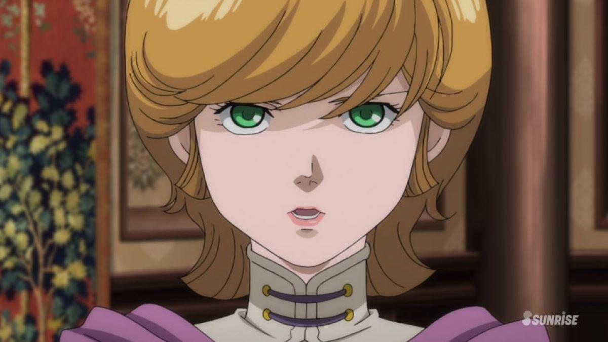 Minerva looking harsh | Princess Minerva Loa Zabi - Mobile Suit Gundam Unicorn RE:0096 | An Anime Warrior Princess!