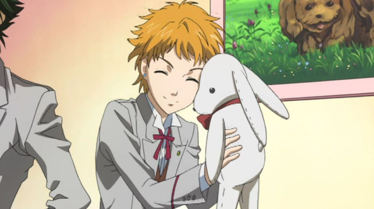 Shiodome with a stuffed rabbit | Meaning of Moe | The Power of Moe