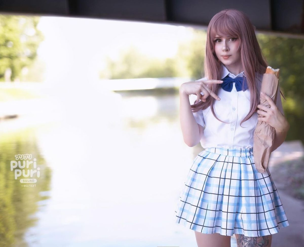 Fraulein Milk looking extremely cute as Shoko Nishimiya from A Silent Voice | Puri Puri Squad Interviews: Fraulein Milk