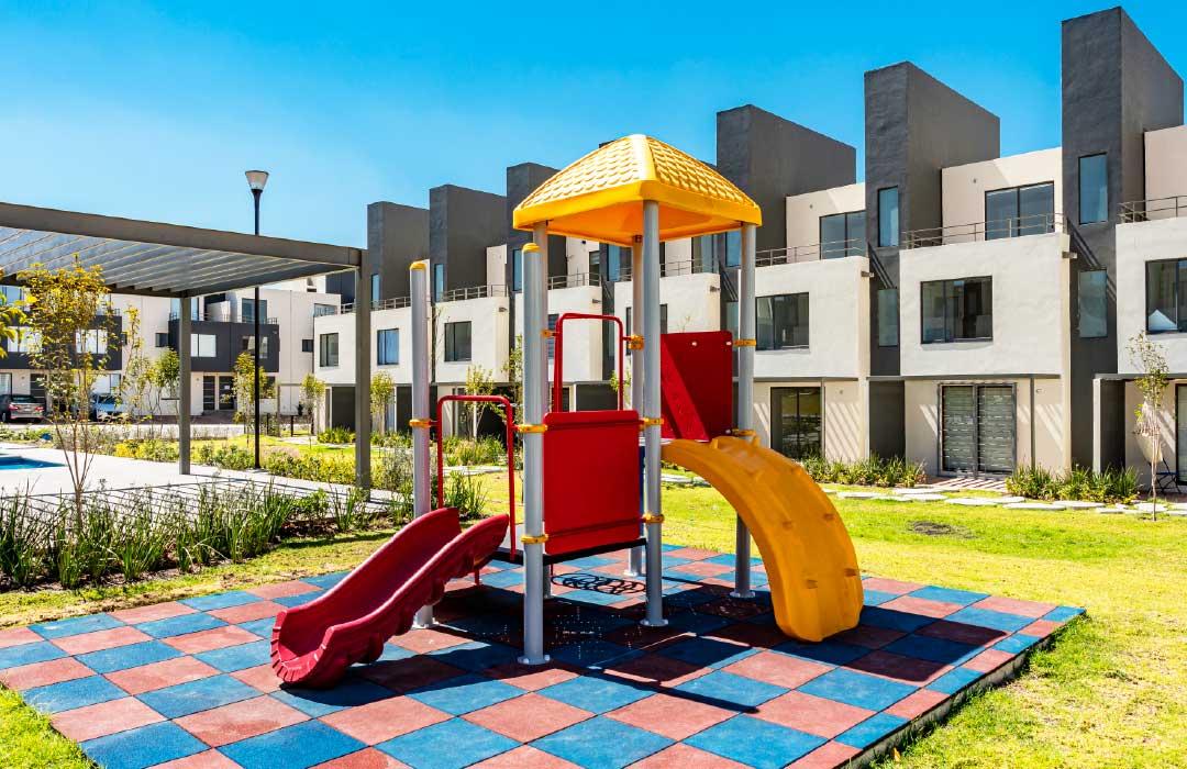 Juegos para los niños al aire libre en Adara Querétaro